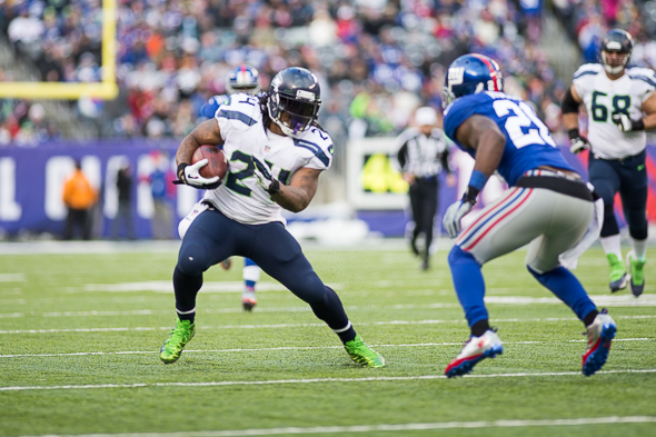 It's been five games sincre Lynch had a 100-yard game.